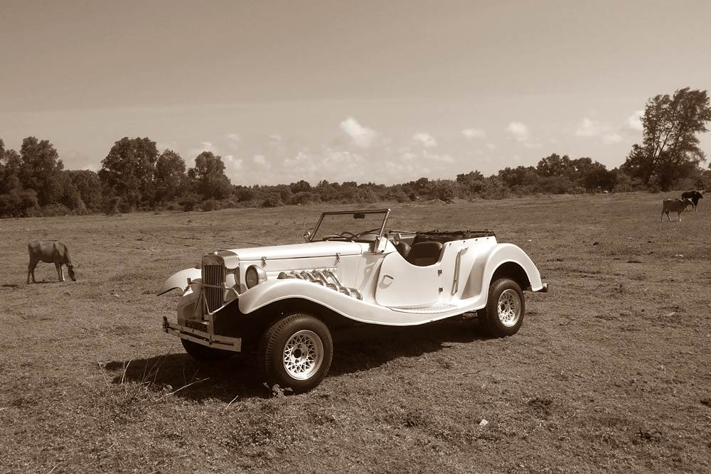 Tour in Bali With The Vintage Car
